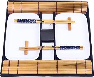 Exzact EX-SG 10 Stück Sushi Set - 2 x Sushi Teller, 2 x Dip