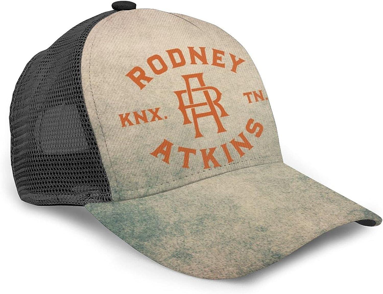 GONGQI Rodney Atkins Pattern Mesh Golf Hat Adjustable Outdoor Sports Summer Cool Athletic Baseball Cap Black