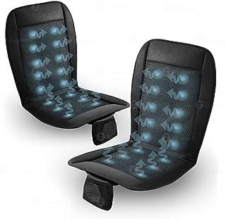 Zone Tech SE0003-2 Cushion-2-Pack Black 12V Automotive Adjustable Temperature Comfortable Cooling Car Seat Cushion