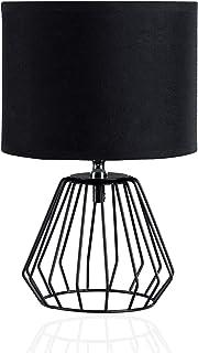 Pauleen 480.16 48016 Shiny Diamond Max.20W Luminaire à PoserE27 Lampe de Chevet Noir 230V Métal/Tissu sans Ampoule, Black