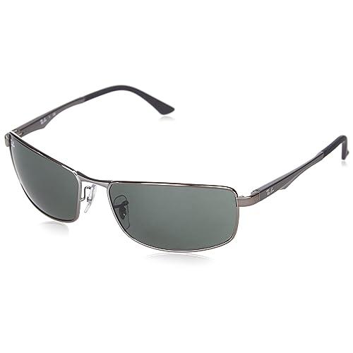 7f17a4c72c Ray-Ban 0RB3498 Rectangular Sunglasses