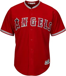 Outerstuff Los Angeles Angels Blank Red Youth Cool Base Alternate Replica Jersey