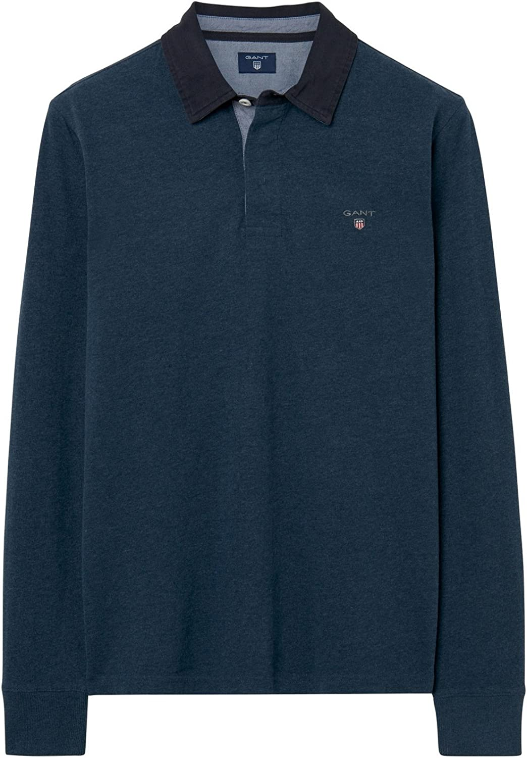 Gant Men's Blue 5 popular Long Sleeve Size Shirt in Bombing free shipping Rugby M
