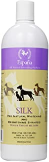 Espana Silk ESP0320DC Specially Formulated Silk Pro Whitening and Brightening Shampoo for Dogs and Cats, 33.82-Ounce