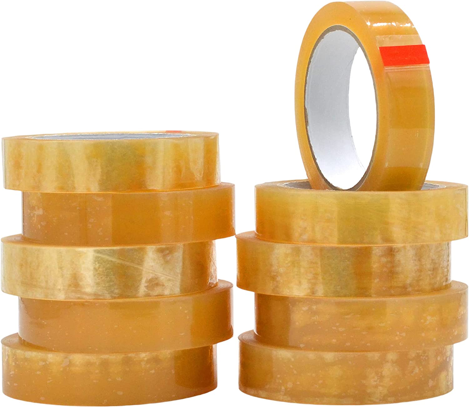 WOD BCST Biodegradable Packaging Tape, Clear, 1 inch x 72 yds (Pack of 10) Cellophane Stationery Eco Friendly Tape for Carton Sealing, Moving, Shipping, & Office
