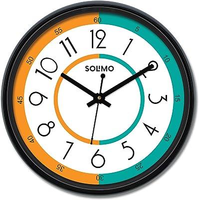 Amazon Brand - Solimo 12-inch Wall Clock - Nautical (Silent Movement)