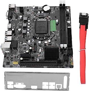 Delaman Placa Base de computadora, USB3.0 SATA LGA 1155 Placa Base de Escritorio i3 i5 i7 Serie Placa Base de Chip de Audio de 6 Canales Compatible con Intel Serie B75