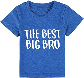 Big Brother Shirt for Toddler Promoted to Best Big Brother Announcement Baby Boys Short Sleeve T-Shirt Tee Tops