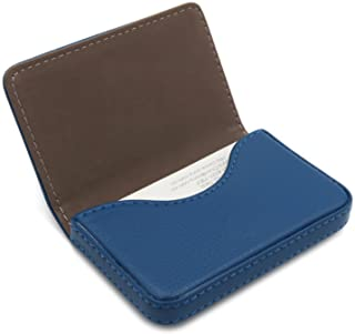 Front Pocket Wallet - PU Leather Slim Business Credit Card Holder with Magnetic Shut