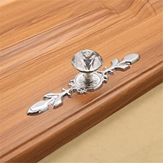 Iuhan Glass Diamond Crystal Dresser Knobs Drawer Furniture Pull Handle Cabinet Door (S)
