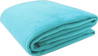 ZOLLNER Manta para Cama 90, Turquesa, 60% algodón, Medidas