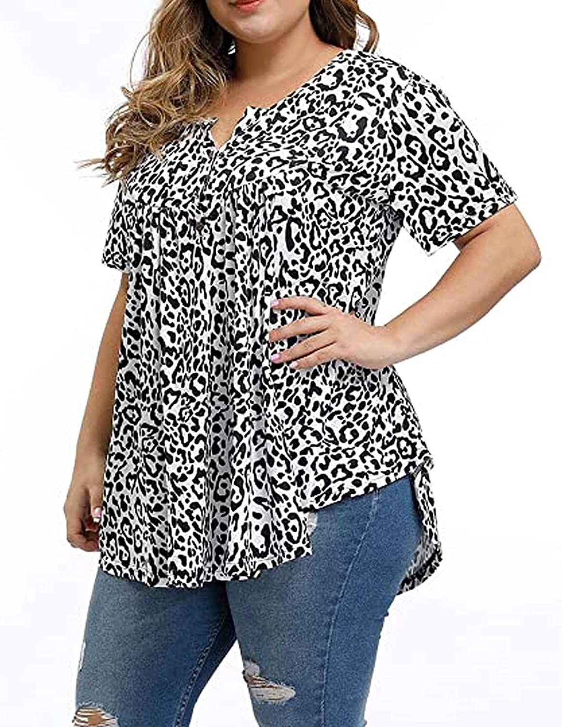Womens Summer Tops Plus Size for Thanksgiving Tunics O-Neck Letter Printed T-Shirt Long Sleeves Tee Blouse