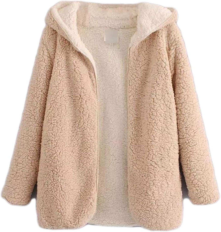 Baeuty Women's Faux Fur Coat DoubleSided Teddy Bear Terry Thick Warm Coat