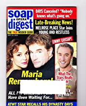 John and Eva LaRue Callahan, All My Children, Kyle Lowder, John James, The 2003 Daytime Emmy Award Nominees - May 20, 2003 Soap Opera Digest Magazine