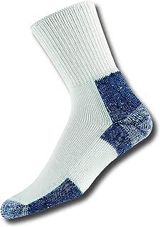 Thorlo, Running Running Crew - Calcetines para correr, color blanco y azul marino Hombre
