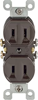 Leviton 223 15 Amp, 125 Volt, with Duplex Receptacle, Residential Grade, Non-Grounded, Brown