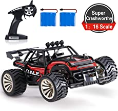 SGILE 15 KM/H Remote Control Car Toy, Kids RC Race Car for Boy with 2 Rechargeable Battery, Red