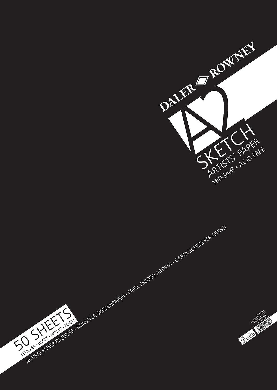Daler Rowney Sketch Skizzenpapier DIN A2, 160g m², m², m², 50 Blatt B07KV794H1  | Neuankömmling  b4b552