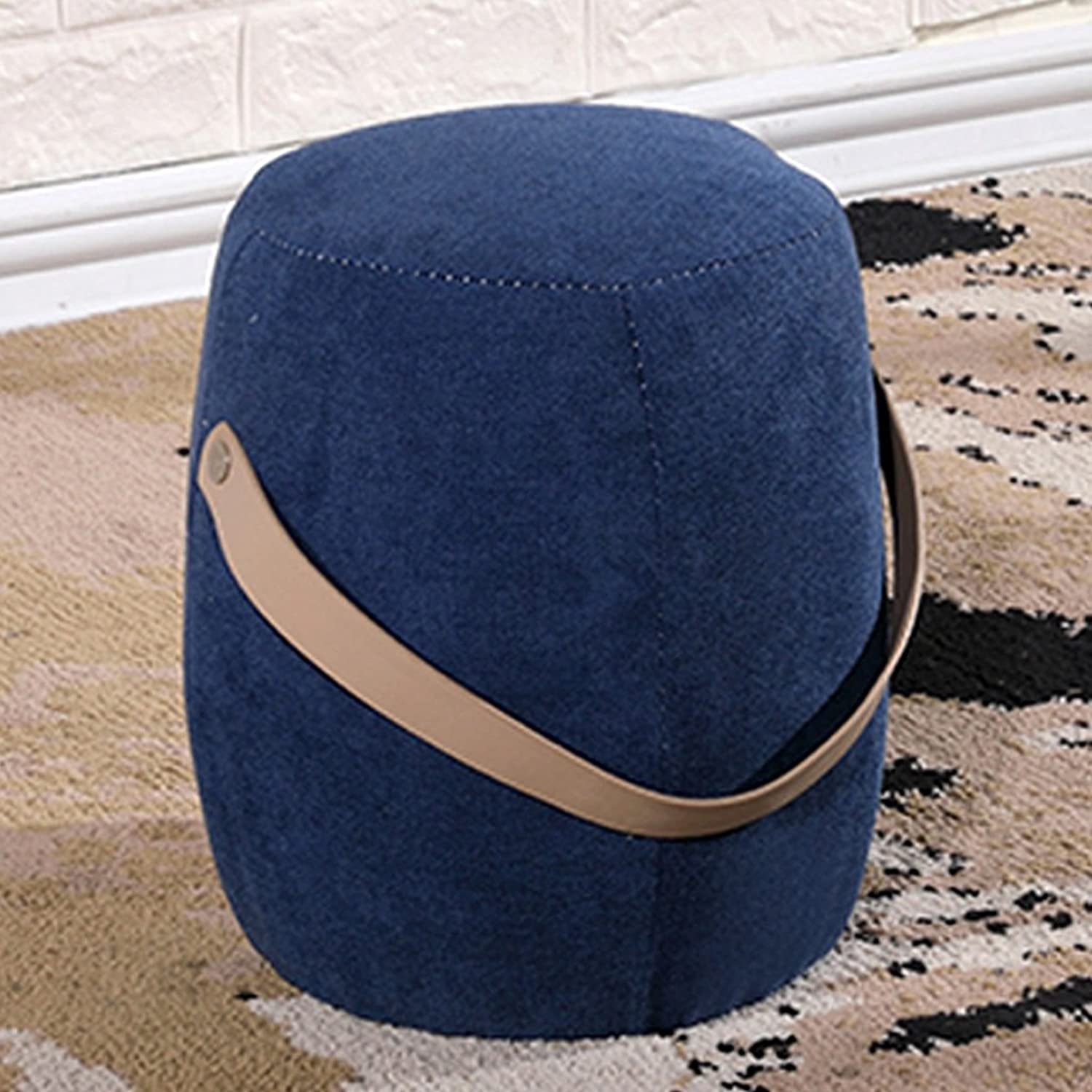 Upholstered Footstool Fabric Small Stool Living Room shoes Stool Creative Sofa Stool Hand Carry Portable Soft sedentary Comfortable not Tired