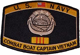 US Navy Combat Boat Captain VIETNAM VETERAN Patch - Veteran Owned Business