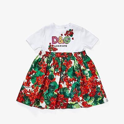 Dolce & Gabbana Kids Portofino Print Poplin and Jersey Dress (Infant) (Variante Abbinata) Girl