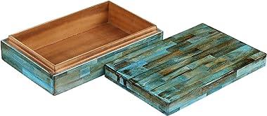Handicrafts Home Verdigris Collection, Storage Organizer Decorative Box Multipurpose Gift - Verdigris 10x6x2.5