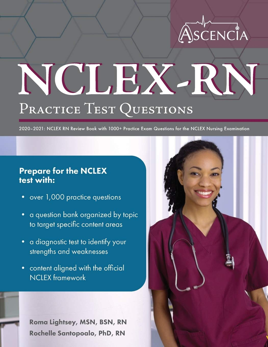 Image OfNCLEX-RN Practice Test Questions 2020-2021: NCLEX RN Review Book With 1000+ Practice Exam Questions For The NCLEX Nursing ...