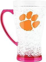 NCAA Clemson Tigers 16oz Crystal Freezer Flared Mug with Pink Base and Handle