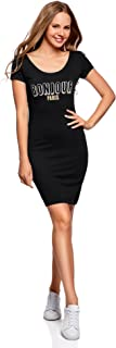 Collection Women's Bodycon Dress with Scoop Back