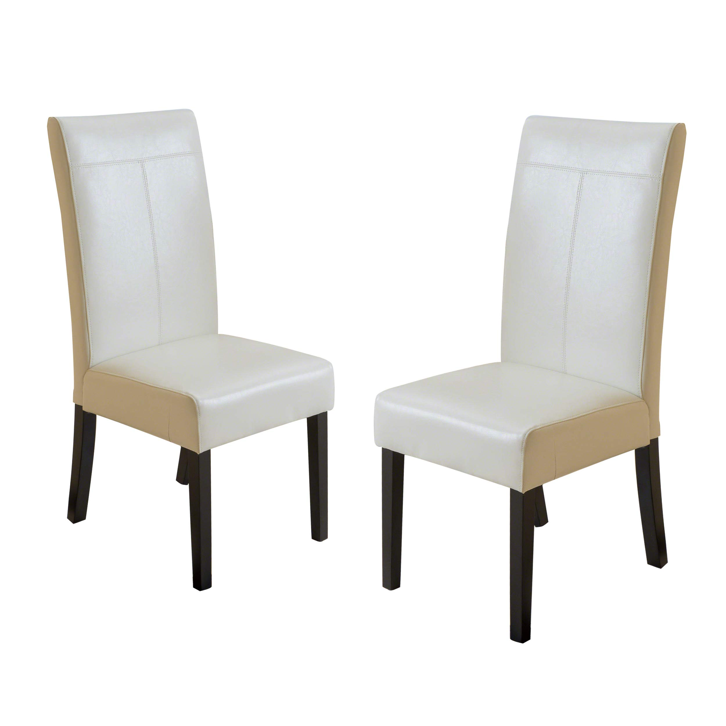 Set of 2 K LIVING DC-025 Beige Fabric Upholstered Dining Chairs