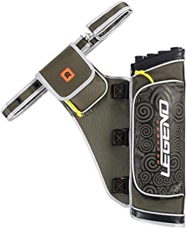"""Legend Nylon 4 Tubes Archery Quiver Summit Arrow Holder - Durable Hip Quiver with Multiple-Pockets and Belt Up to 42"""""""