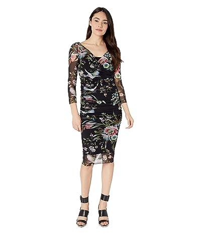 FUZZI 3/4 Wrap Dress (Black) Women