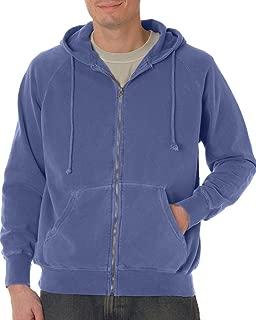 1563 Chouinard Adult Full Zip Hooded Sweatshirt Burnt Orange Pgmdye