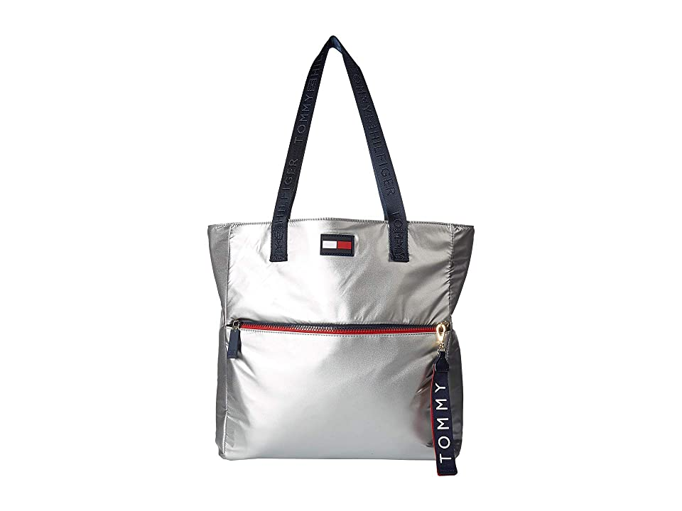 Tommy Hilfiger Leah Tote (Silver) Tote Handbags