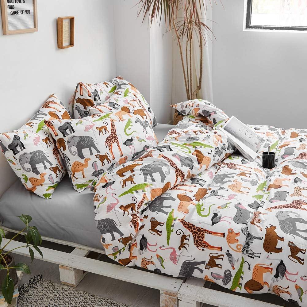 Cartoon Yellow Duck Bird Pattern Print on White Twin 100/% Cotton Bedding for Boys Girls Teens Single Bed 1 Soft Comforter Cover 2 Pillowcase BlueBlue Ducks Kids Duvet Cover Set Twin