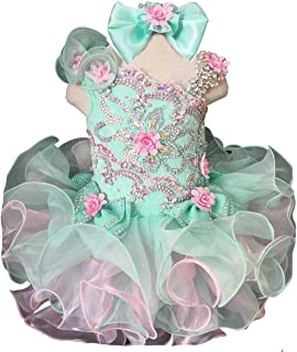 Jenniferwu Infant Toddler Baby Newborn Little Girl`s Pageant Party Birthday Dress G003AS Blue Size 4T