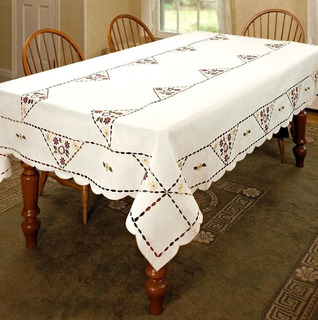 Orchid Embroidered Vintage Design 無料サンプルOK 毎日がバーゲンセール Cutwork Tablecloth b 72