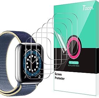 TOCOL 6 sztuk folii ochronnej kompatybilna z Apple Watch Series 6 SE 5 4 44 mm Series 7 45 mm przezroczysta HD miękka foli...