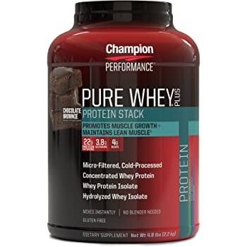 海外直送品 Pure Whey Plus Supplements, Chocolate Brownie 2.18kg