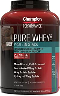 海外直送品 Pure Whey Plus Supplements, Chocolate Brownie 2.18kg