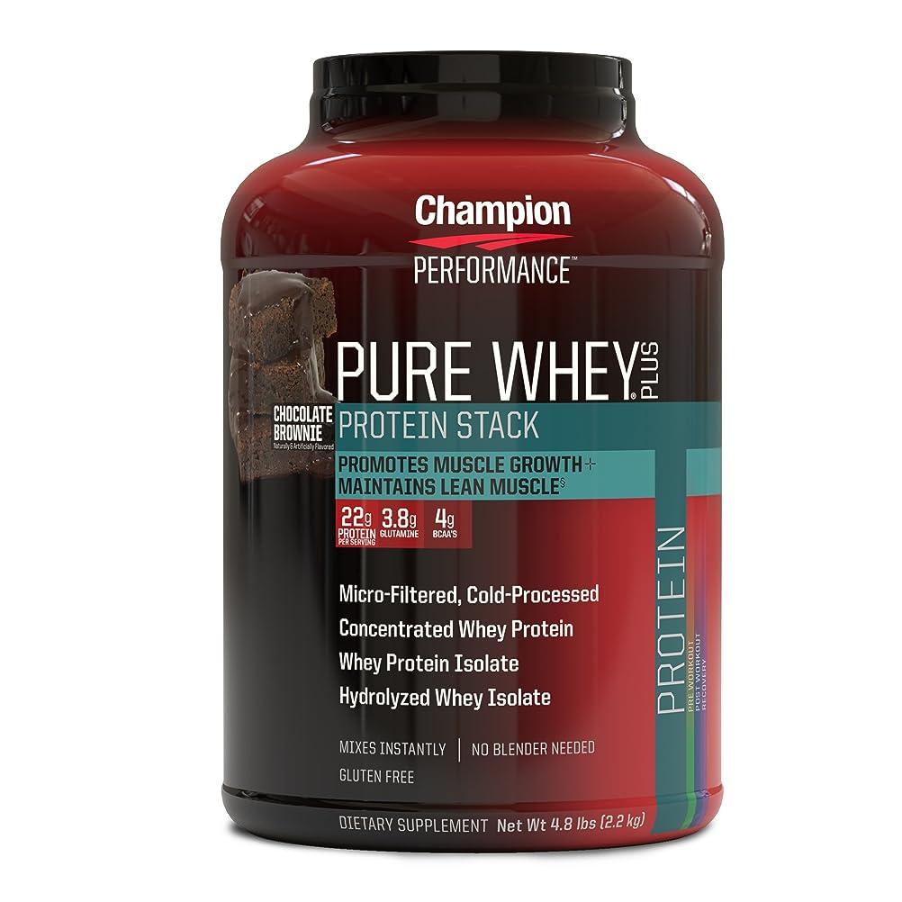 トレイ投票膜海外直送品 Pure Whey Plus Supplements, Chocolate Brownie 2.18kg