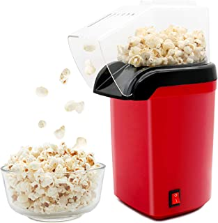 Popcorn Machine 1200W Electric Popcorn Maker Vintage Style Hot Air Popcorn Popper Healthy Machine No Oil Needed