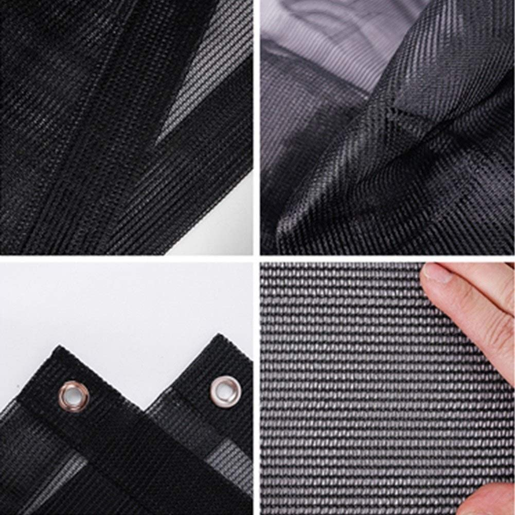 Color : Black, Size : 1x1m Awnings Shade Netting Greenhouse Shading Net with Grommets 75/% Shading Rate UV Resistant Sunblock Shade Cloth for Garden Flower Plant LQHZWYC