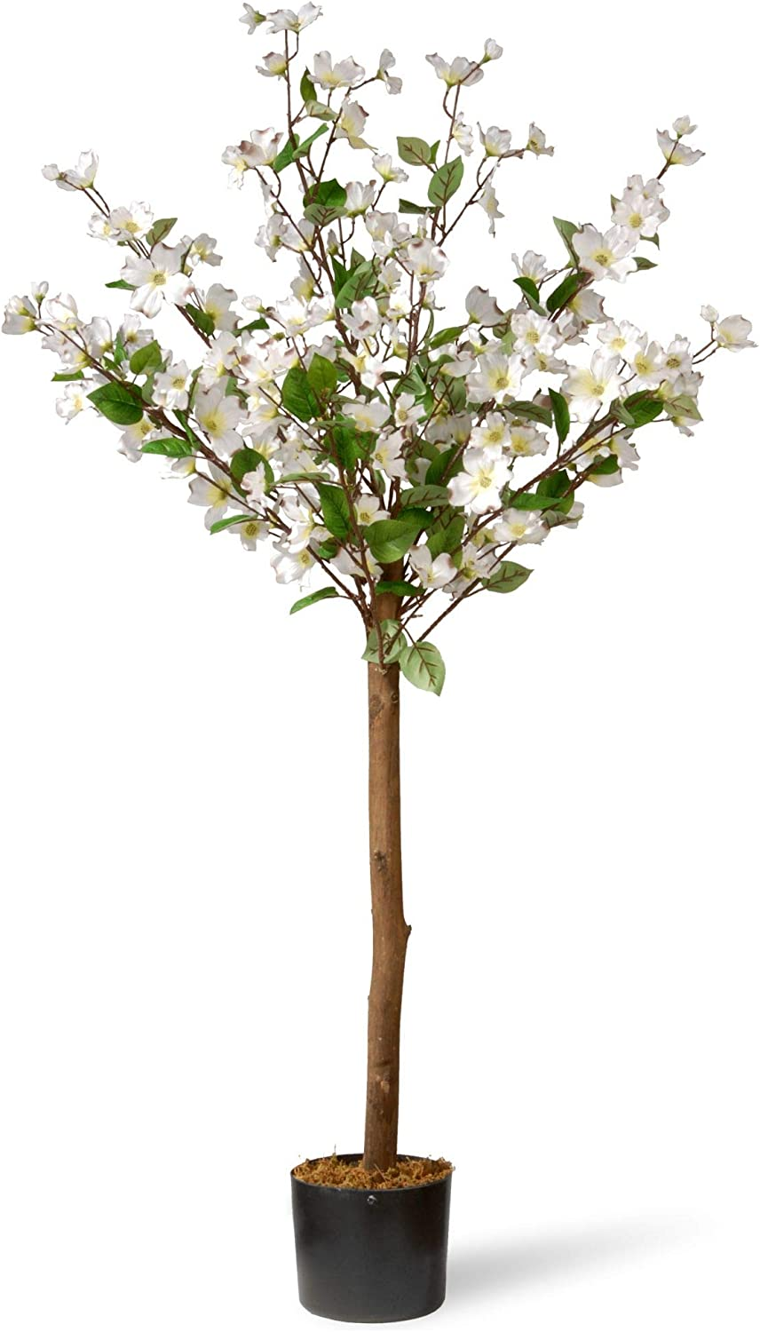 CC Christmas Decor 4' Potted excellence Dogwood with White Artificial Max 69% OFF Tree