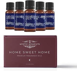 Mystic Moments Paquete Básico de Aceite Aromático - Hogar Dulce Hogar - 5 x 10ml - 100% Puro