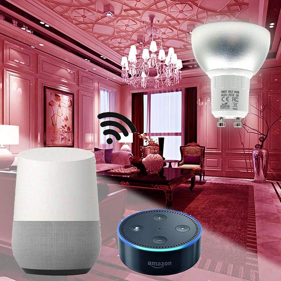 ZHENWOCAI 5W WiFi Smart APP RGBW LED Downlight Bulb Work with Alexa Echo Google Home Assistance AC85-265V New