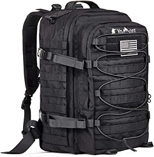 YoMont Military Tactical Backpack, 3 Day Army Molle Assault Waterproof Rucksack Pack for Outdoors, Hiking, Camping, Bug Out Bag,Travel,EMT