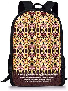 Goloingm Threefold Cord Ecclesiastes Students School Backpack Print Boys Bookbag for Travel