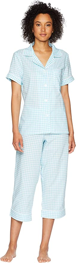 Short Sleeve Cropped Pants PJ Set