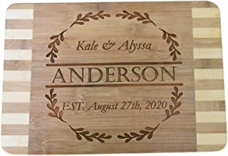 Brew City Engraving - Custom Personalized Engraved Bamboo Cutting Board - Wedding, Anniversary, Graduation, Housewarming, Closing, Realtor Mother's Day, Fathers Day Gift/Present for Cooks & Chefs 39